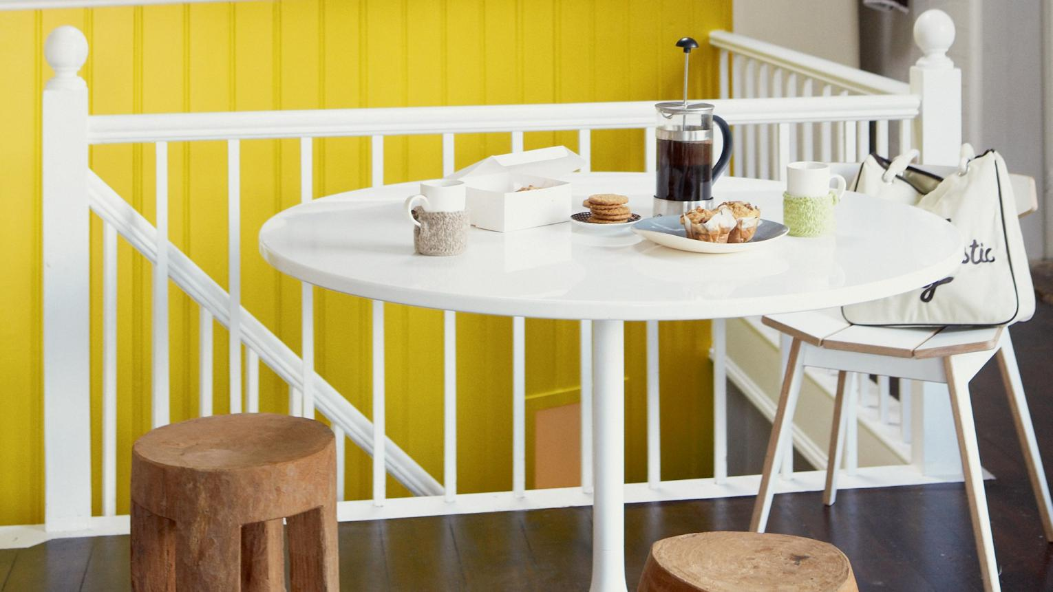 Add sunshine to your kitchen with yellow+ colours and products