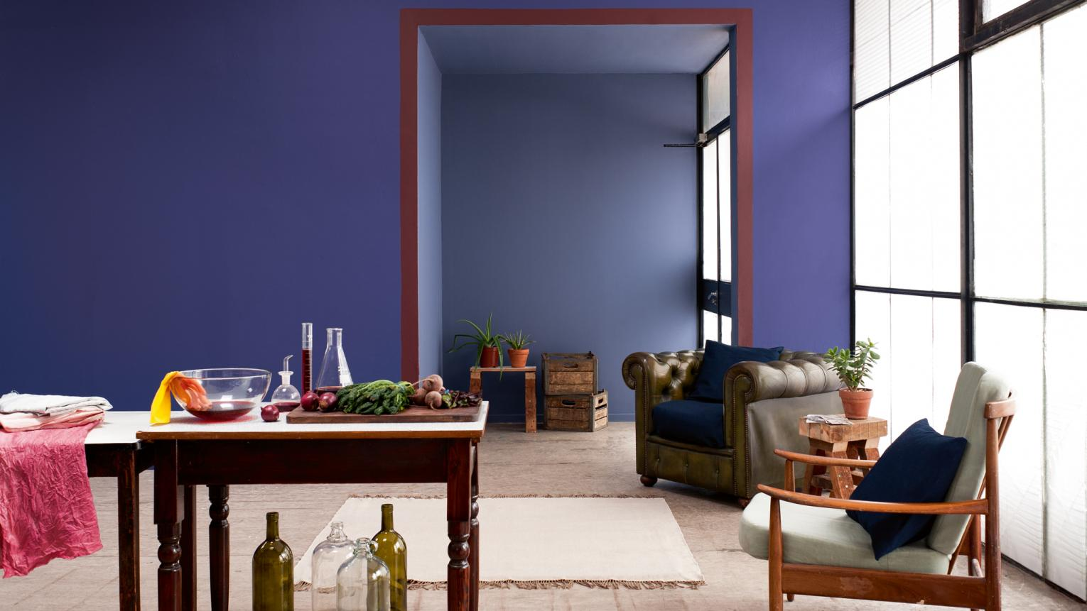 Go indigo blue for calm sophistication + colours and products