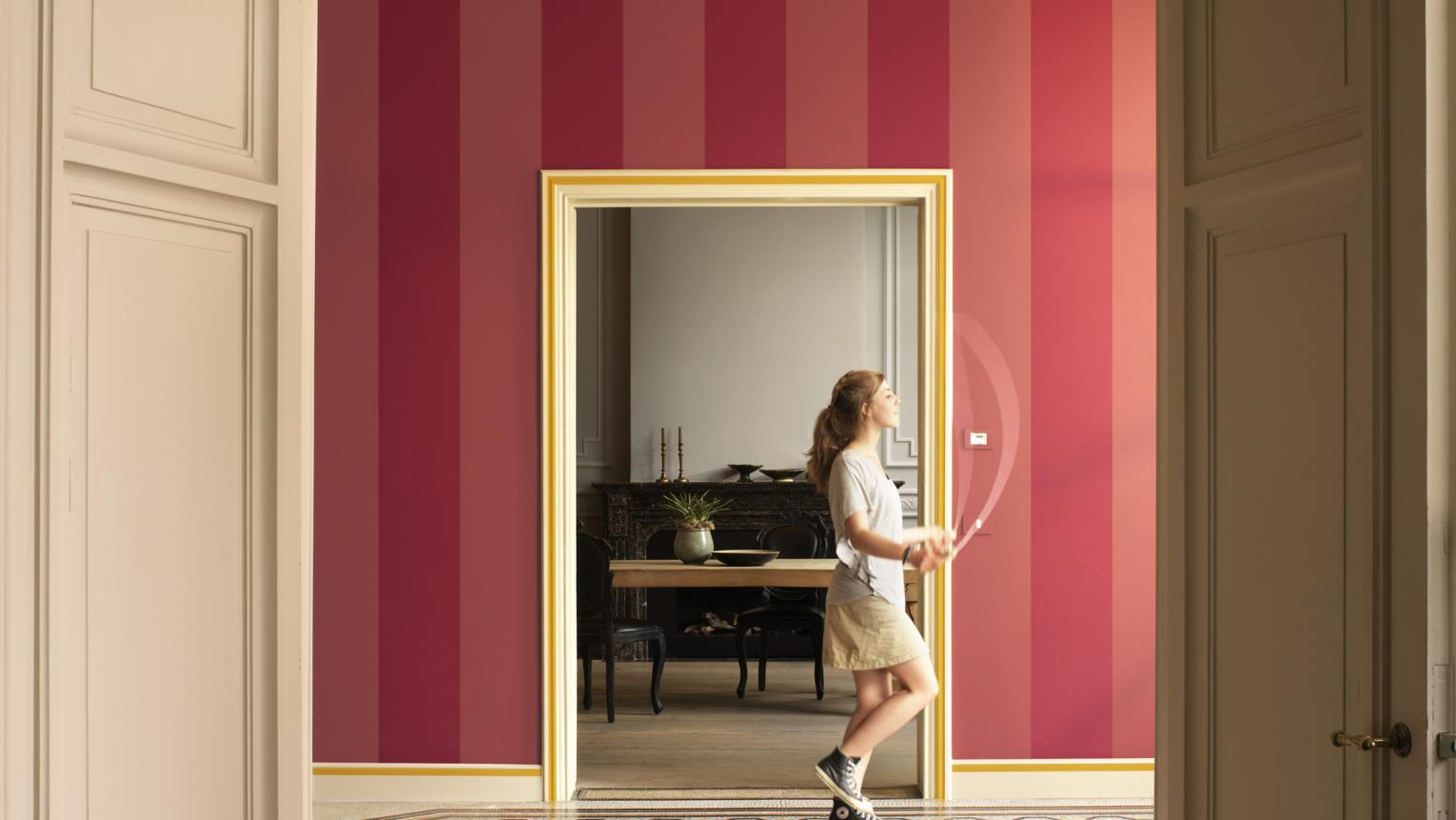 Update a period hallway with bold stripes + colours and products