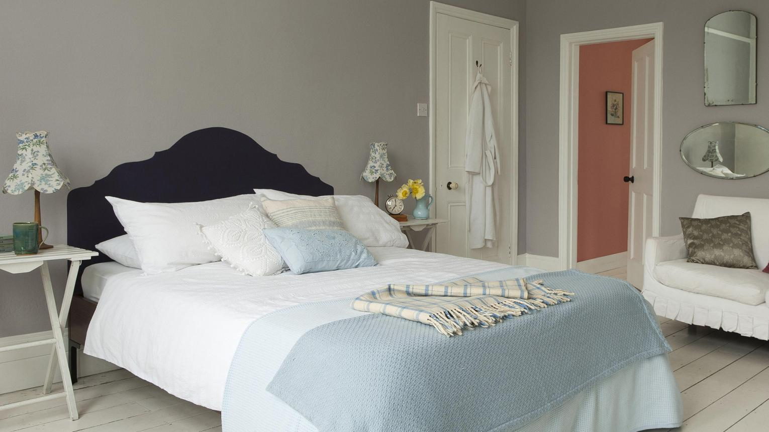 Use soft, dreamy neutrals to create a bedroom decor that encourages rest and relaxation.