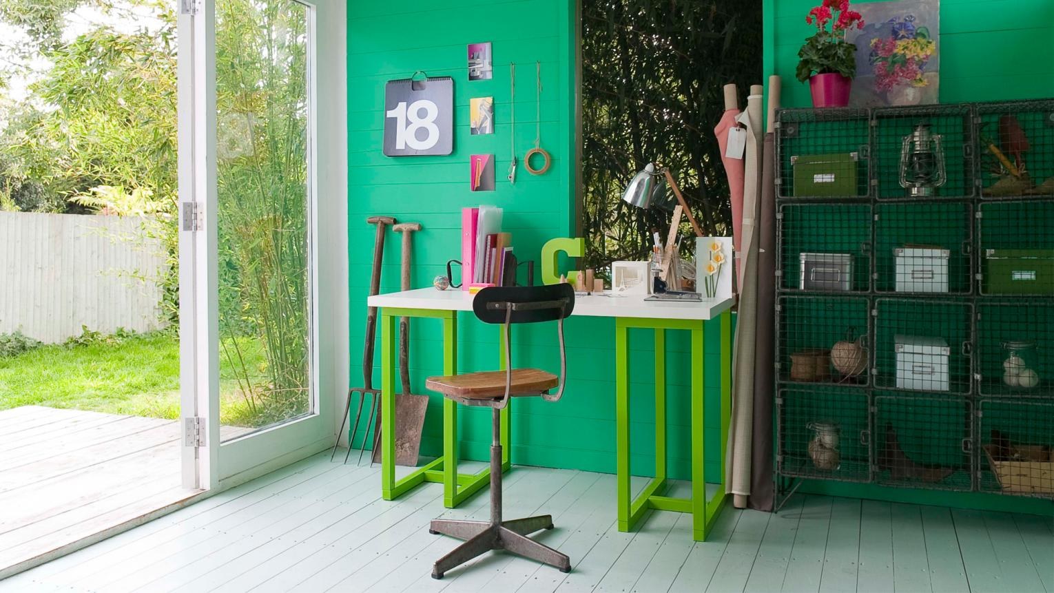 Make a statement with vivid emerald green + colours and products