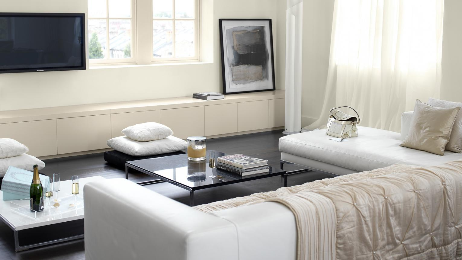Work modern luxury with shades of ivory + colours and products