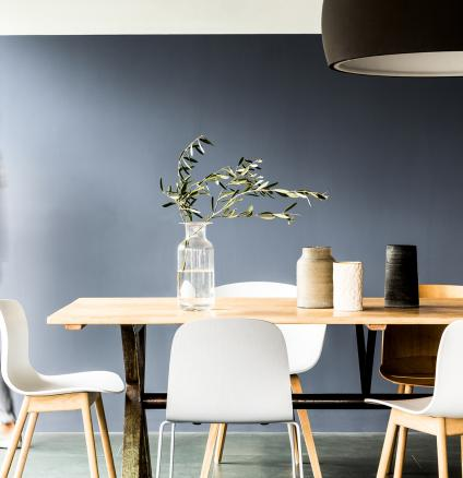 If you're worried black and white will look too harsh in your new home, why not try softening the look using similar, more versatile, colour combinations?